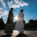 【国際結婚】外国人男性と日本人女子の和装結婚式@椿山荘の神社